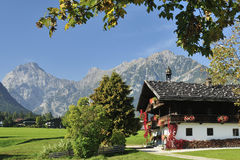 Pertisau. The alpine scenery in Pertisau village in Tirol - Austria Royalty Free Stock Images
