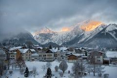 Pertisau-Dorf in den Alpen in Tirol, Österreich Lizenzfreies Stockfoto