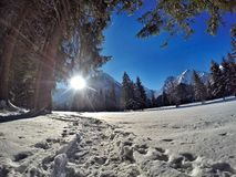 Pertisau, Karwendeltal aux Alpes au Tyrol, Autriche Photos stock