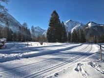 Pertisau, Karwendeltal en las montañas en el Tyrol, Austria Imagen de archivo