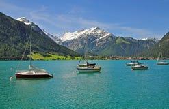 Pertisau, lago Achensee, Tirolo, Austria Fotografie Stock