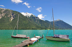 Pertisau,Lake Achensee,Tirol,Austria. View from pertisau on lake achensee in tirol,austria Royalty Free Stock Image