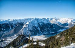 mountain view at the Alps in Tyrol, Austria royalty free stock photography