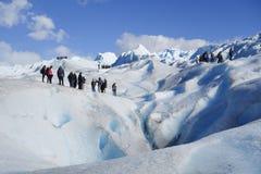 冰川迁徙在Pertito莫尔诺巴塔哥尼亚的,阿根廷 库存图片