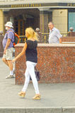 Perto do nome de Praga do restaurante moscow Fotos de Stock Royalty Free