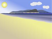 Perto do oceano Ilustração Stock