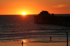 Perto do oceano, Califórnia imagem de stock