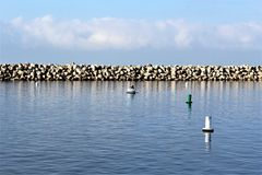 Perto do oceano de Portifino Califórnia em Redondo Beach, Califórnia, Estados Unidos foto de stock