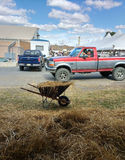 Perto dos celeiros dos rebanhos animais no 164th grande Allentown justo Fotos de Stock Royalty Free