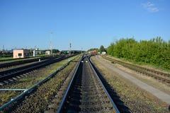 Perto o da estação de trem Fotografia de Stock Royalty Free
