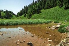 Pertuis jezioro - glacjalny jezioro który suszy up w lecie przy 1620 m, Fotografia Stock