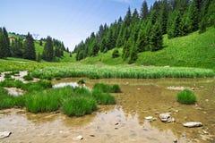 Pertuis lake  - glacial lake that dries up in summer, at 1620 m Royalty Free Stock Image