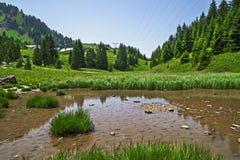 Pertuis lake  - glacial lake that dries up in summer, at 1620 m Royalty Free Stock Photo