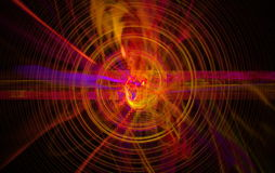 Perturbation of the atomic nucleus and elementary. Particles in an unstable state in the form of a raging fireball scrolling spiral. Fractal art grafics Royalty Free Stock Photography