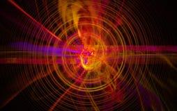 Perturbation du noyau atomique et élémentaire Photographie stock