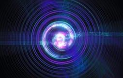 Perturbation du noyau atomique et élémentaire illustration libre de droits
