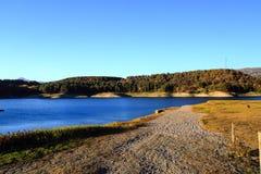 Pertusillo sjö Fotografering för Bildbyråer