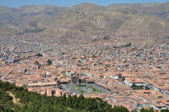 Peru - Aerial view of Cuzco Stock Photography