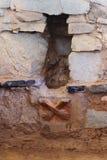 Peru ancient ruins, Temple of Kotosh, Huanuco Royalty Free Stock Photos
