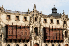 Peru, Arzobispal Palace in the capital city Peru - Lima Royalty Free Stock Photography