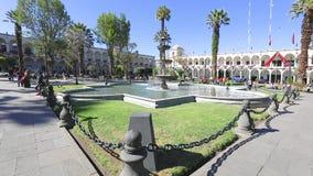 Panorama of the arms square Arequipa Peru