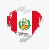 Peru bandery Fotografia Royalty Free