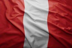 Peru bandery Zdjęcie Stock