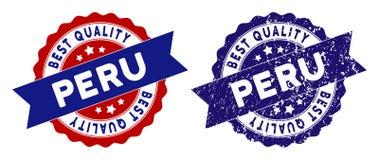Peru Best Quality Stamp con superficie sporca Immagini Stock Libere da Diritti