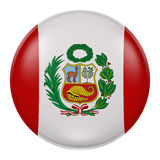 Peru button. 3d rendering of Peru flag on a button Royalty Free Stock Photography