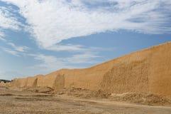 Peru, Chan Chan arruina perto de Trujillo fotografia de stock