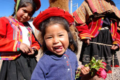 Peru child in traditional costume Royalty Free Stock Photo