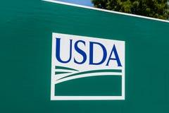 Peru - Circa Augusti 20118: Tjänste- mitt för USDA USA-Jordbruksavdelningen är ansvarig för lagar släkta att bruka I arkivbild