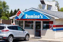 Peru - Circa May 2018: Domino`s Pizza Carryout Restaurant. Dominos is one of the top five companies in online transactions II. Domino`s Pizza Carryout Restaurant Royalty Free Stock Photo