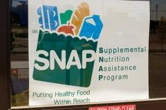 Peru - Circa May 2018: A Sign at a Retailer - We Accept SNAP IV stock photography