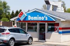 Peru - Circa Mei 2018: Restaurant het Om mee te nemen van de domino` s Pizza De domino's is één van de hoogste vijf bedrijven in  Royalty-vrije Stock Foto