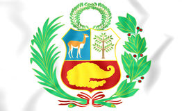 Peru Coat of Arms Stock Images