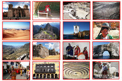 Peru-Collage lizenzfreie stockfotos