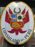 Peru Consulate Sign Fotografie Stock