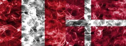 Peru contra a bandeira do fumo de Dinamarca, grupo C, campeonato do mundo 2018 do futebol, Mo Fotos de Stock