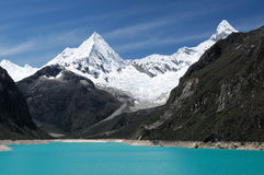 Peru, Cordillera Blanca. Peru, Beautiful Cordillera Blanca mountain. The picture presents lagoon Paron Royalty Free Stock Images