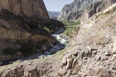 Peru Cotahuasi kanjon Den djupaste kanjonen för wolds Fotografering för Bildbyråer