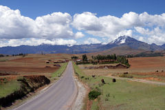 Peru Countryside. View of the Peruvian countryside not far from the city of Cusco royalty free stock photos