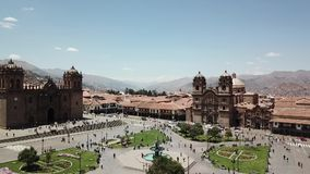 Peru, Cusco Plaza de Armas stock video