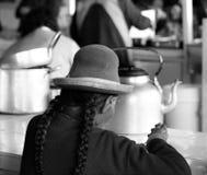 Peru, Cuzco, mercado, mulher Fotografia de Stock