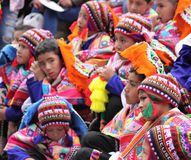 Peru, Cuzco, na estrada Fotos de Stock Royalty Free