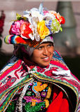 Peru, Cuzco, Quechua Indian Woman Royalty Free Stock Images