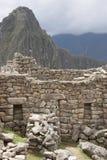 Peru da perspectiva das paredes de pedra de Machu Picchu Imagem de Stock