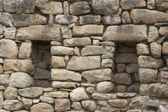 Peru da perspectiva das paredes de pedra de Machu Picchu Fotografia de Stock Royalty Free