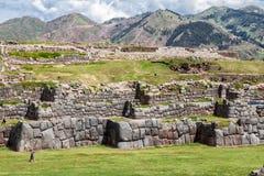 Peru de Cusco da fortaleza de Saksaywaman Foto de Stock