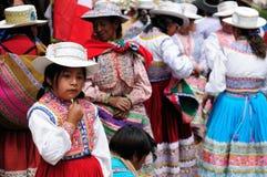 Peru, de interessantste plaatsen van Zuid-Amerika, Peruviaans festival Wititi beschermde Unesco Stock Foto's